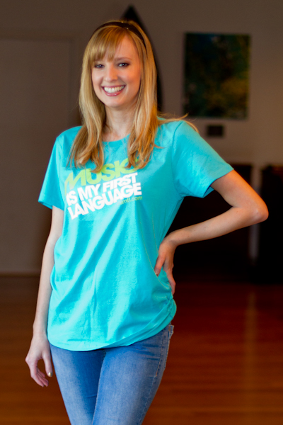 women_teal_shirt